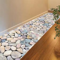 3D立體臥室客廳地磚房間裝飾地貼防水自粘壁紙 墻紙地板貼紙墻貼畫