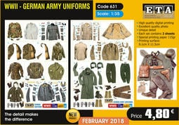 ETA Code 631 1/35 WW2 German Uniforms
