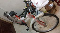 低跨點設計  自行車 腳踏車 登山 越野 通勤淑女車 26吋 手撥式21速 高碳鋼 學生車 2900元 紅色