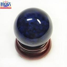 藝晶店★稀有藍琥珀原礦球50㎜(88528)
