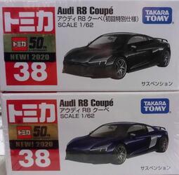 TOMICA 多美小汽車NO.038 奧迪R8 一般+初回(2台一起賣)