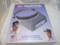 醫美生技植髮美國製OPTIVISOR 頭戴式放大鏡 1.75X  2X 2.5X 2.75X 3.5X