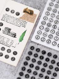 [CS1090] 透明印章 英文字母數字打字機 claireger