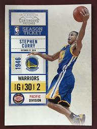2010-11 Playoff Contenders Patches #8 Stephen Curry 勇士隊