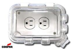 美國COOPER 單聯戶外防水蓋板盒 WIU-1W