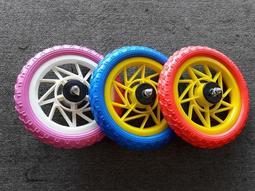 《鐵馬藝速》台灣製造 12吋 輪組 前後輪 送齒輪 兒童腳踏車 滑步車 發泡輪 輪組 黑 藍 紅 粉紅 童車 發泡胎