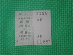 【佑佑小品】《火車票系列》民國101/1/1永保安康元旦硬卡紀念火車票