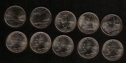 美國50州紀念幣,2003年10枚一組