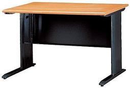 【傢俱城】木紋色CD黑腳辦公桌.職員桌.電腦桌100*深70/  083-15