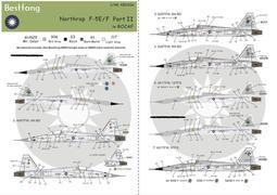 1/48Bestfong水貼紙(48030SP)~F-5E/F,國軍高視度塗裝(7種隊徽與任意機號選擇)