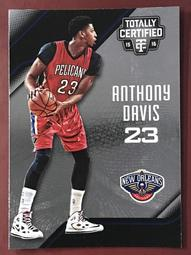 2015-16 Totally Certified #98 Anthony Davis 鵜鶘隊
