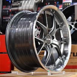 英國品牌 ARUIS 旋壓輕量化 18吋鋁圈 5孔114.3 100 112 120 108 前後配 灰色車邊 內凹