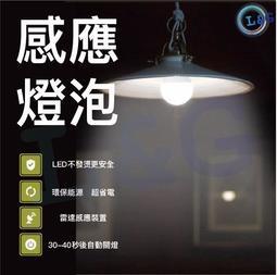 L&G  免運費!台灣現貨! LED微波雷達人體感應燈泡 7W 12W 白光黃光 智能光控 E27規格 節能燈泡
