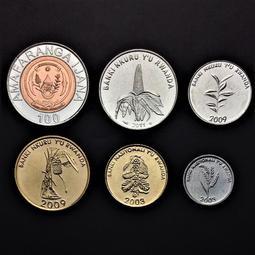 【非洲】盧旺達6枚一套硬幣