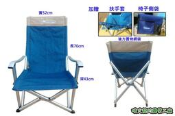 【SAMCAMP 噴火龍】丹寧風=巨匠椅/巨川椅/(附贈扶手套及置物袋) - 鋁合金摺疊椅 ※ 收納方便、舒適耐坐