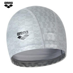 (代訂) 2018新款 ARENA 2WAY 雙層合成 矽膠泳帽 (銀色) (ARN-6407)