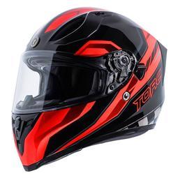 """【極度風速】 美國 TORC T15 """"EDGE - RED  """" 頭槌帽 亮光 街跑車 全罩 安全帽 內遮陽片"""