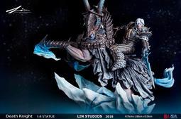 『胖虎館』現貨 AL Model 魔獸世界 1/4 死亡騎士 阿薩斯 巫妖王 GK 雕像 完成品