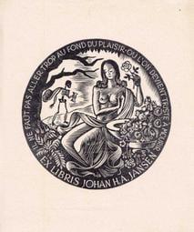 早期藏書票EXLIBRIS / BOOKPLATE 1940