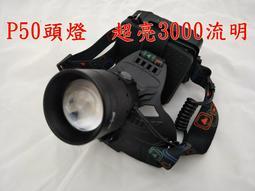 XHP50 變焦頭燈 有風扇散熱亮度做高 3000流明以上 史上最亮單顆LED頭燈  可USB充電 比L2  亮 p70