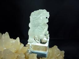 珍藏天地~巴西白水晶祥獅獻瑞印章