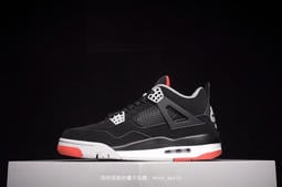 """加州途銳--耐吉NiKe Air Jordan 4 Retro """"Bred""""黑紅 AJ4 中幫男子籃球鞋 男鞋 運動鞋"""