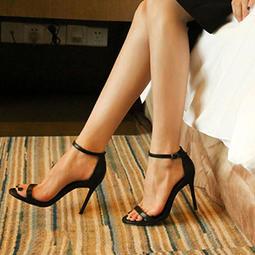 SAS 鞋櫃必備經典羊皮一字帶細跟鞋 歐美時尚 細跟高跟鞋 絨面高跟鞋 一字扣帶皮革高跟鞋 一字帶涼鞋【831S】