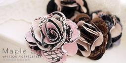 ☆韓國進口-優雅女人 蕾絲雙色注目玫瑰 胸花/胸針/髮夾兩用(16-73-1)*(現貨特價)
