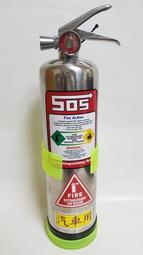 車用滅火器 高效能環保氣體HFC-236 900ml型 不銹鋼瓶(保固3年) 適用ABCF類火災  長效型v