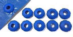 藍色台灣製塑膠帆布眼扣,一組十個,免用帆布打孔器和帆布扣鉗 雞眼扣 12mm 台灣製