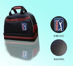 廠商搬家大拍賣~夏林高爾夫球桿~高級經典格紋雙層衣物袋PGA TOUR可當出國旅遊皮箱鞋袋