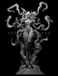 『胖虎館』代購 2020年 第三季 WD 魔獸世界 1/4 女妖之王 黑暗女王 希爾瓦娜斯 風行者 GK 雕像 完成品
