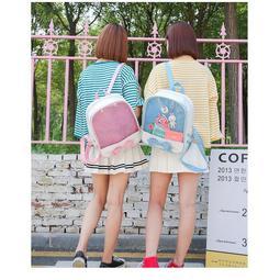 現貨+預購 蝴蝶結綁帶痛包 透明後背包 少女心 背包 書包 果凍包