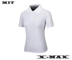~排汗王~X-MAX~MIT-冰感系列-素面POLO衫-女款-白~團體服~排汗衫~