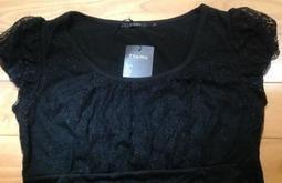 全新 專櫃 正品 Theme 黑色 造型 氣質 優雅 性感 上衣 含運