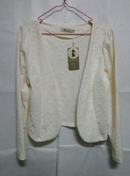 小香風外套 罩衫 米白 代售 可換物價390