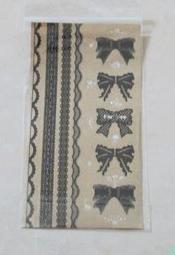 手帳日記禮品包裝花邊蝴蝶結貼紙1張8元