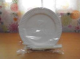 ☆Mola小舖★【全新】免洗 圓型 蛋糕盤 6入 (附 6支塑膠小刀叉)