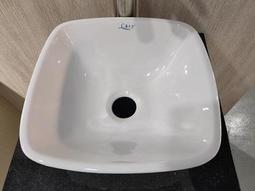 檯上盆 台上盆 面盆 洗手盆 陶瓷盆 可配花崗石/橡木板 #寬31*深31*高13cm 衛浴 浴室 廁所 翻修 C109