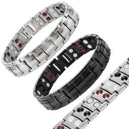 【蓁寶閣】亞光素面 磁石手環 鍺石手鍊 負離子紅外線多功能健康能量手環