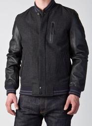 NIKE DESTROYER JACKET--全新真皮羊毛棒球外套~適合小個子帥氣好看~