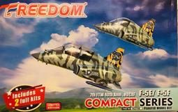 *魔*FREEDOM 162706 Q版--空軍 F-5E & F-5F'老虎II'戰鬥&教練機/虎紋塗裝/限量--現貨