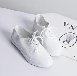 現貸供應⚠️韓版小白鞋/休閒帆布鞋/懶人韓國軟皮小白鞋 平底小白鞋 情侶鞋 男女鞋