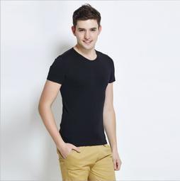 2017男式短袖t恤 絲光棉圓領短袖純色T恤 時尚韓版修身男裝2813# 2814
