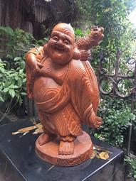 【swallow燕子二手老傢俱】早期 木雕 工藝品 香樟 彌勒佛 三義 佛  [1911148]