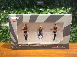 1/64 Mini GT LB-Works Mr.Kato Show Girls MGTAC05 LB社長人偶【MGM】