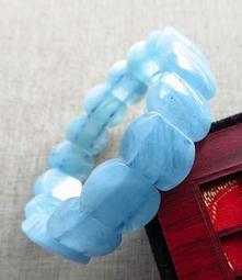 16mm/46.7g海藍寶手排手鍊手牌手串手環手珠珠寶玉石寶石首飾飾品專櫃精品