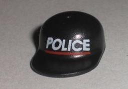 樂高王子 LEGO 6398 1993年 城市 警察總部 絕版老物 帽 黑 4485pb01 (A-275)缺貨