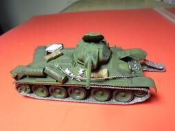 """二戰德軍""""【美軍】""""精緻玩具公仔!裝備,兵人.配件.1:72.被擊毀俄軍T34戰車 !"""