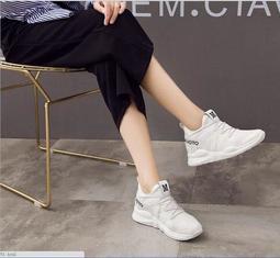 新款透氣韓版運動鞋女夏 學生跑步單鞋 百搭厚底增高休閒鞋2469#2479